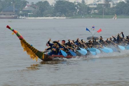 thai ethnicity: Longboat racing Traditional Culture ,Nonthaburi,Thailand Editorial