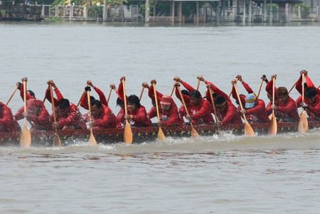 Longboat racing Traditional Culture ,Nonthaburi,Thailand Stock Photo - 15317713