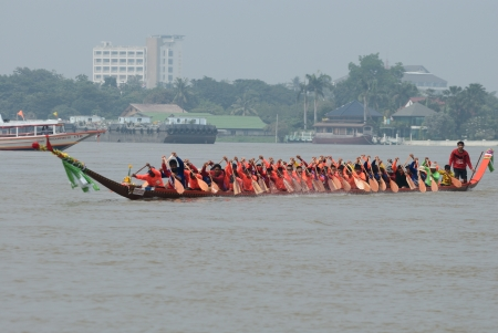 Longboat racing Traditional Culture ,Nonthaburi,Thailand Stock Photo - 15317719