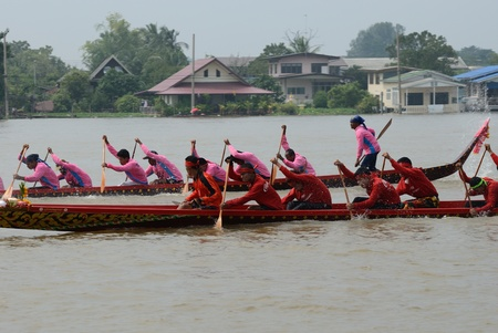 Longboat racing Traditional Culture ,Nonthaburi,Thailand Stock Photo - 15317716