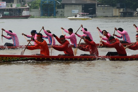 Longboat racing Traditional Culture ,Nonthaburi,Thailand Stock Photo - 15317718