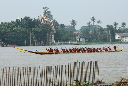 Longboat racing Traditional Culture ,Nonthaburi,Thailand Stock Photo - 15317727
