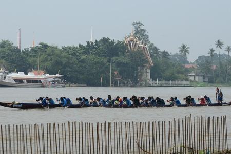 nonthaburi: Longboat racing Traditional Culture ,Nonthaburi,Thailand Editorial