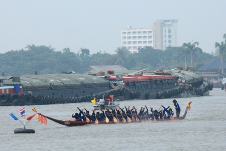 Longboat racing Traditional Culture ,Nonthaburi,Thailand Editorial