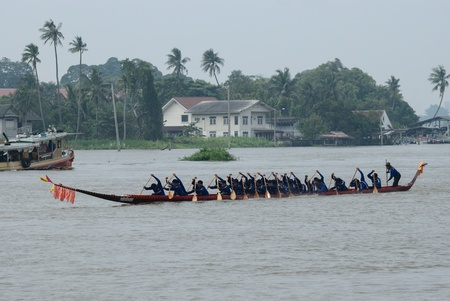 Longboat racing Traditional Culture ,Nonthaburi,Thailandd