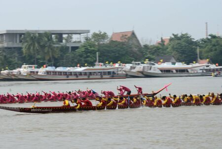 Longboat racing Traditional Culture ,Nonthaburi,Thailand Stock Photo - 15317722