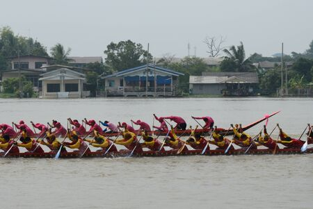 Longboat racing Traditional Culture ,Nonthaburi,Thailand Stock Photo - 15317720