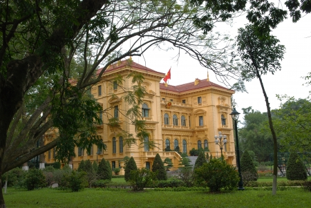 The Presidential Palace  in Hanoi ,Vietnam  French Colonial building was built in the early 1900