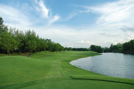 Golf course in Thailand,Long Fairway photo