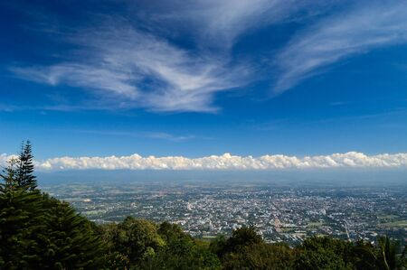 Chiang Mai City view from Doi Suthep, Thailand
