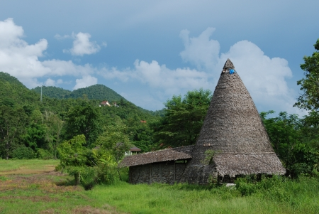 Thatched Cone Hut in Pai,Thailand