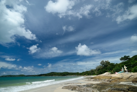The Beach at Samed island Rayong Province ,Thailand