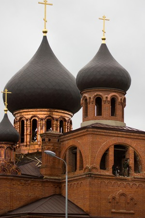 believers: Russian, Kazan, 14 september 2016 - the dome of the old believers  Church, telephoto Editorial