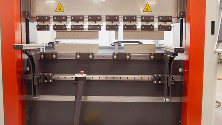 automate: Industrial equipment - automate machine at factory, front view, close up Stock Photo