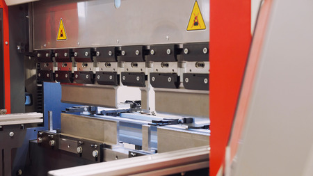 automate: Industrial equipment - automate machine at factory, close up Stock Photo