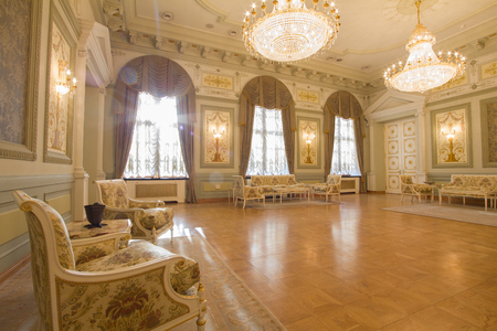 KAZAN, RUSSIA - 16 JANUARY 2017, City Hall - luxury and beautiful touristic place - antique furniture in the interior Editorial