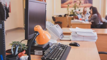 Pc と職場担当者のワーキング ・ オフィス ライフ