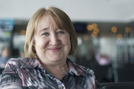 Portrait of an smiling elderly woman