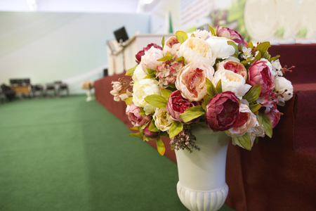 Flowers - decoration of conference or meeting room