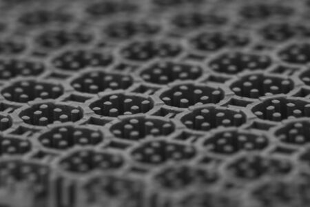 Grey plastic texture or background - rubber industry