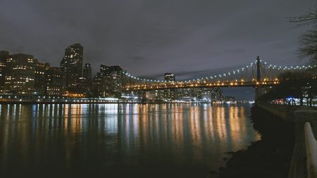 New York City timelapse - night skyline Manhattan skyscrapers