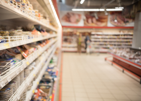 Abstract background blur photo of supermarket shopping. Stock Photo