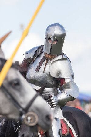 A man knight involved in a fight Stock Photo