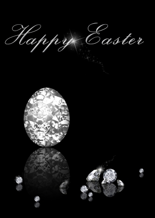 Brilliant Easter Egg is an elegant diamond jewelry illustration on a black background