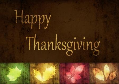 accion de gracias: Saludos de Acci�n de Gracias, una ilustraci�n del grunge abstracto con las hojas de oto�o