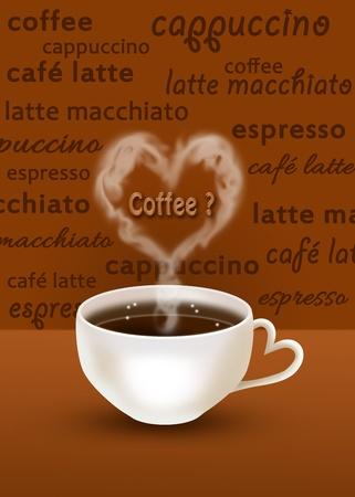 Coffee with smoky Heart