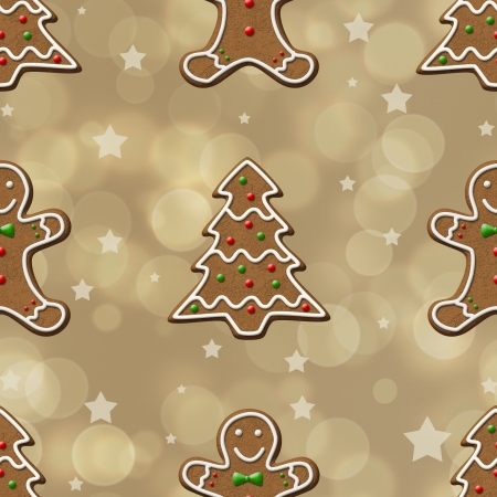Elegant and delicious seamsless Christmas pattern texture Stock Photo