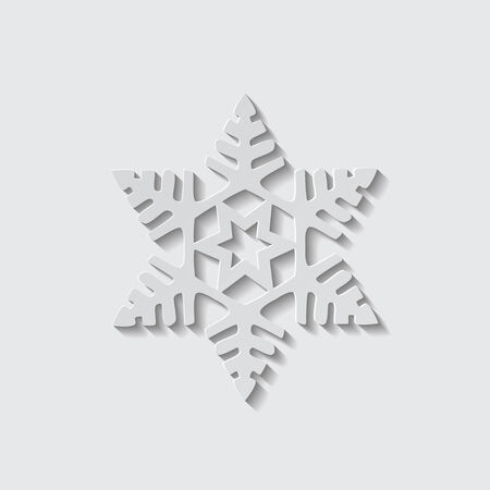 Illustration of a vector snowflake shape icon.
