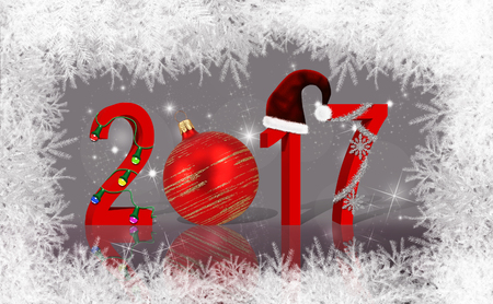 Christmas and New Year illustration: 2017 stock photography Christmas background with snowflake, snowflake and stars.