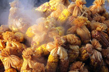 Hot yellow corns  Stock Photo
