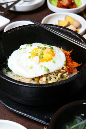 evolved: Korean cuisine as a national cuisine known today has evolved through centuries of social and political change. Stock Photo