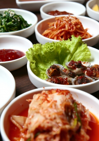 kimchi , korean food , korean barbecue side dish Stock Photo