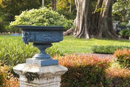 antique vase: antique ornamental garden vase