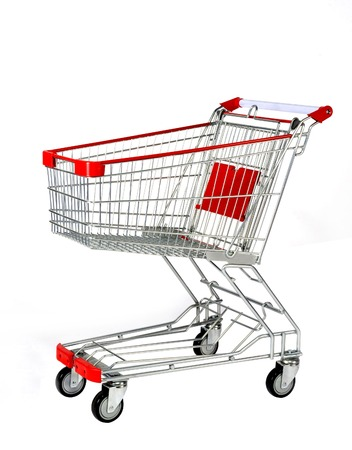 A Shopping Cart Isolated On White