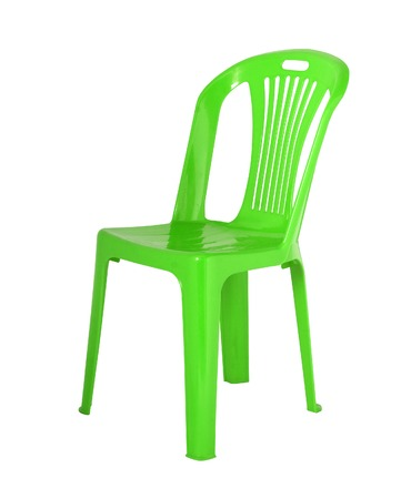 objects: The chair is made of  plastic Isolated white background