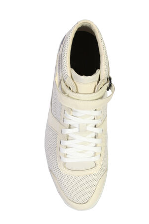 shoelaces: white sport and fashion shoes