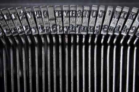typebar: Types of an old typewriter