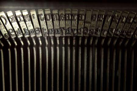 typebar: Close up photo of retro typewriter