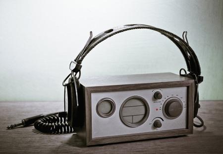 cerulean: modern radio and headphones retro style,  mint cerulean