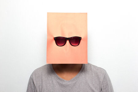 Young man on a mask photo
