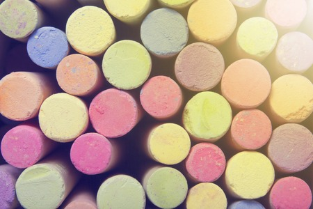 chalks: Chalks in a variety of colors. Stock Photo