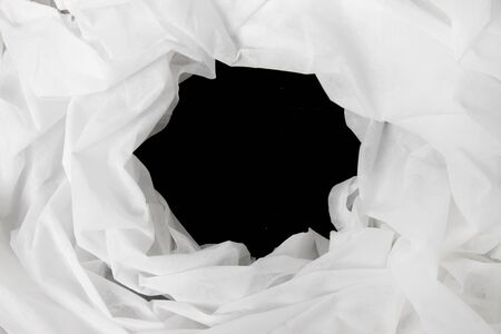 bed sheet: black hole in White Cloth texture.