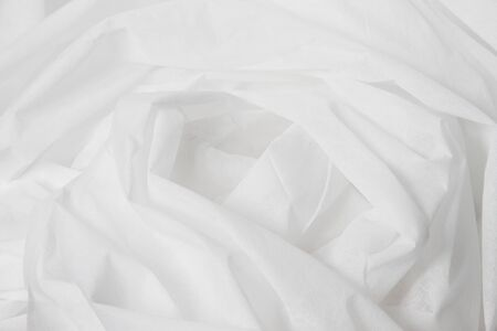 Beautiful folds of White Cloth texture.