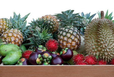 Many Thai fruits are popular such as durian and mangosteen.
