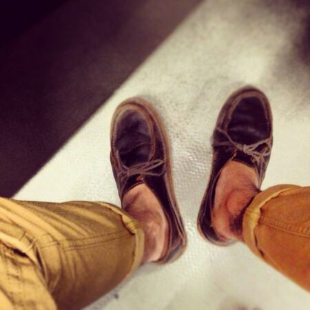 pants: Brown shoes and brown pants