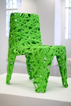 material: Green chair by recycle material